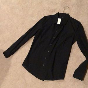 Gap black button down tailored shirt
